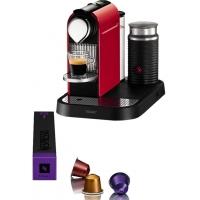 Nespresso Turmix Citiz TX270R Fire Red si Aeroccino