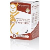 Italian Coffee CAFFE MACCHIATO compatibile A Modo Mio, 16 capsule