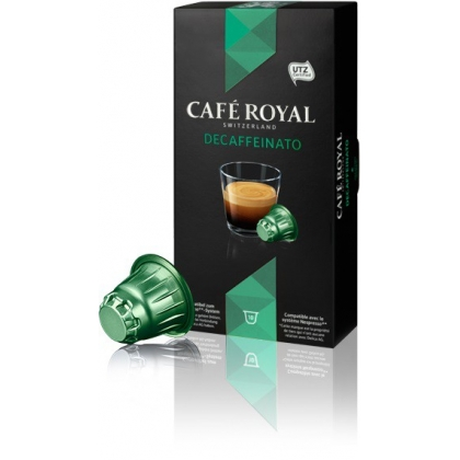 CAFE ROYAL Decaffeinato - compatibile Nespresso, 10 capsule
