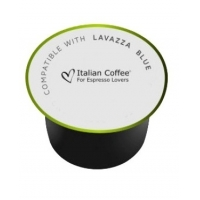 50 Capsule Italian Coffee ESSENZA DEKcompatibile Lavazza Blue