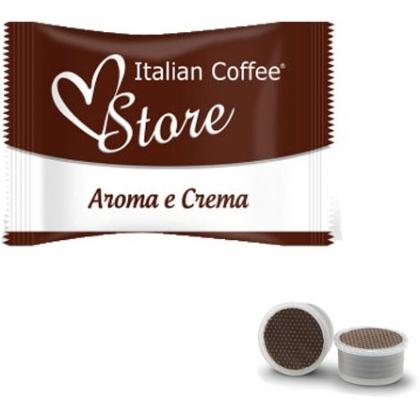 50 capsule Italian Coffee Aroma & Crema compatibile Point