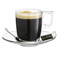 Set 2 cesti espresso si farfurii Voluto, 90ml