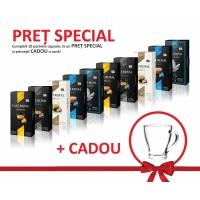 Pachet CAFE ROYAL 100 capsule + cana sticla cadou