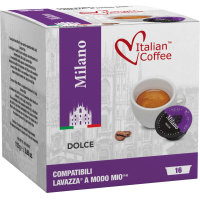 Italian Coffee MILANO compatibile A Modo Mio, 16 capsule
