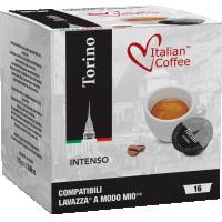 Italian Coffee TORINO compatibile A Modo Mio, 16 capsule