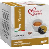 Italian Coffee VENEZIA compatibile A Modo Mio, 16 capsule