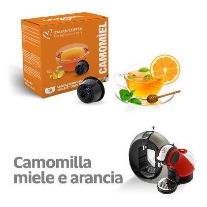 Italian Coffee Camomiel Miere si Portocala compatibile Dolce Gusto