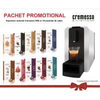 Pachet promo 10 cutii Cremesso + aparat Cremesso Compact ONE Silver