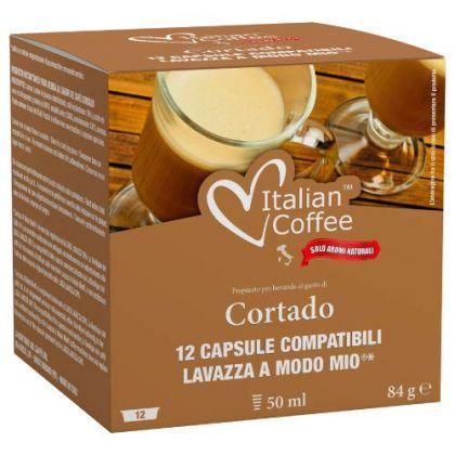 Italian Coffee Cortado compatibile A Modo Mio, 12 capsule